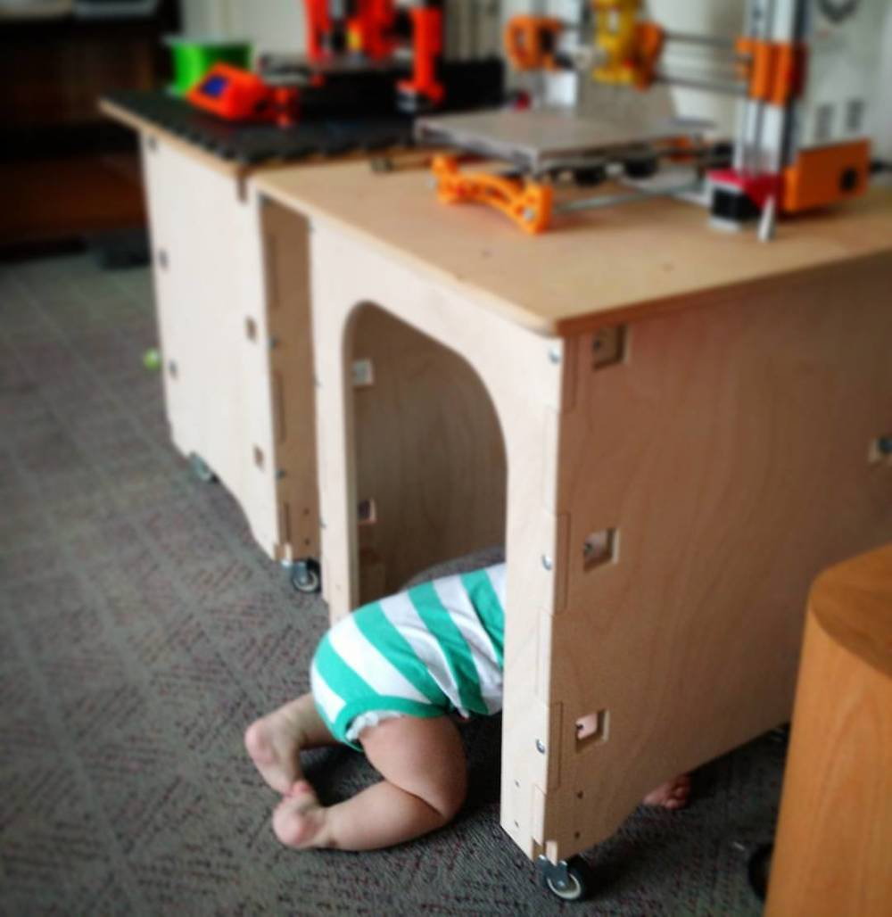 3d printer technician . . . has been on the job for 10 months today. #10monthsold #3dprinting