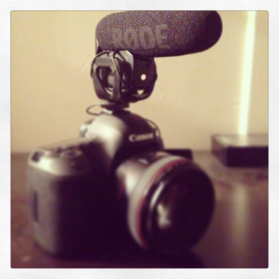 My 5D with the RØDE Videomic Pro