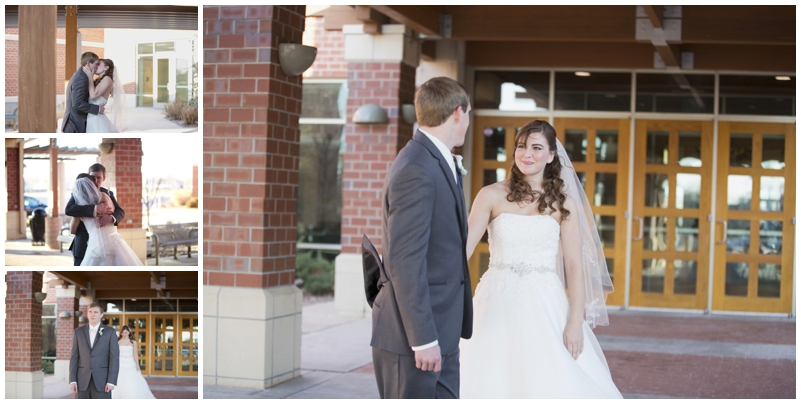 Christian and Amy's first look - photos by Jennifer Miller Photography