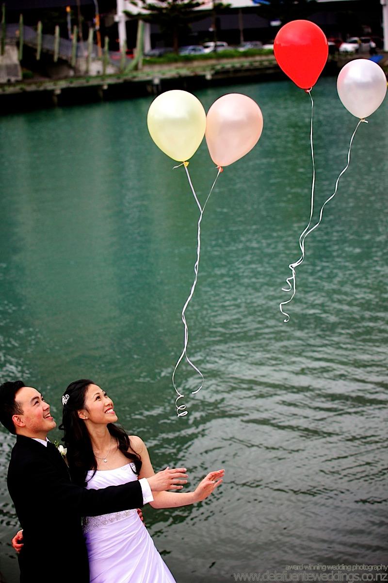Chinese Wedding wellington balloon release