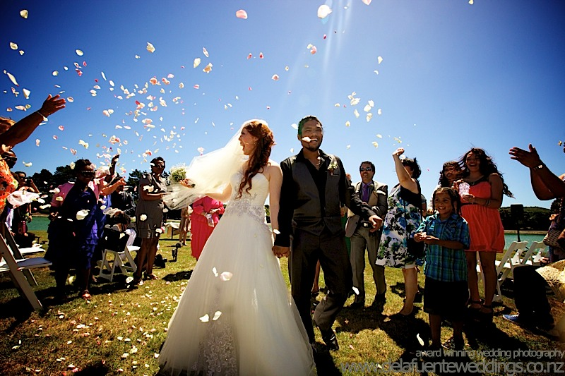Recessional wedding photo