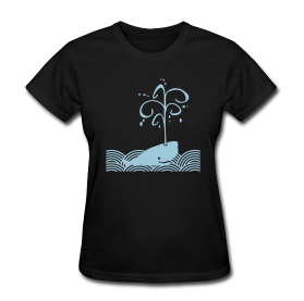 """Whale's Spout"" Women's T-Shirt"
