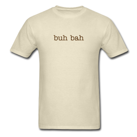 Men's -Buh Bah- T-Shirt in Khaki - The Jinxes MERCH.png