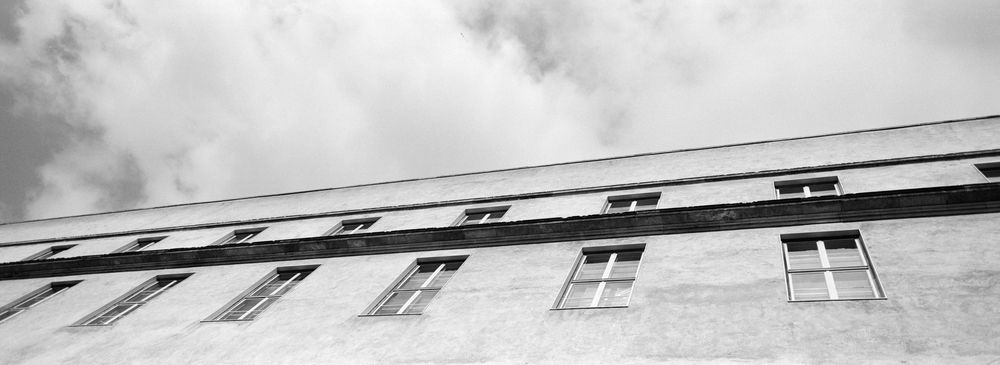Needed to test my newly purchased Hasselblad XPan camera. So Hjalte and I went outside and searched for good motives. The strange Københavns Politi building, just around the corner, was the very first shot. It is a simple image, almost boring, but somehow I happen to like it very much.