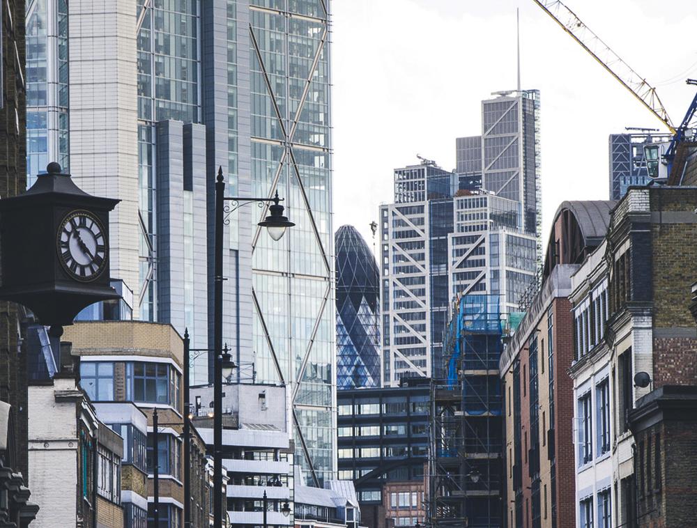 Vista de Londres, ladrillo y cristal