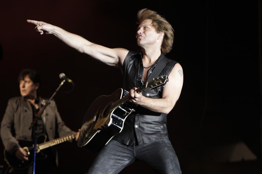 Actuación de Jon Bon Jovi en el escenario rock de Rock in Rio 2010