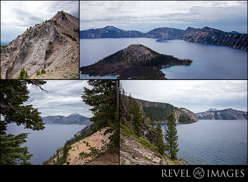 Crater Lake from a variety of perspectives and elevations.