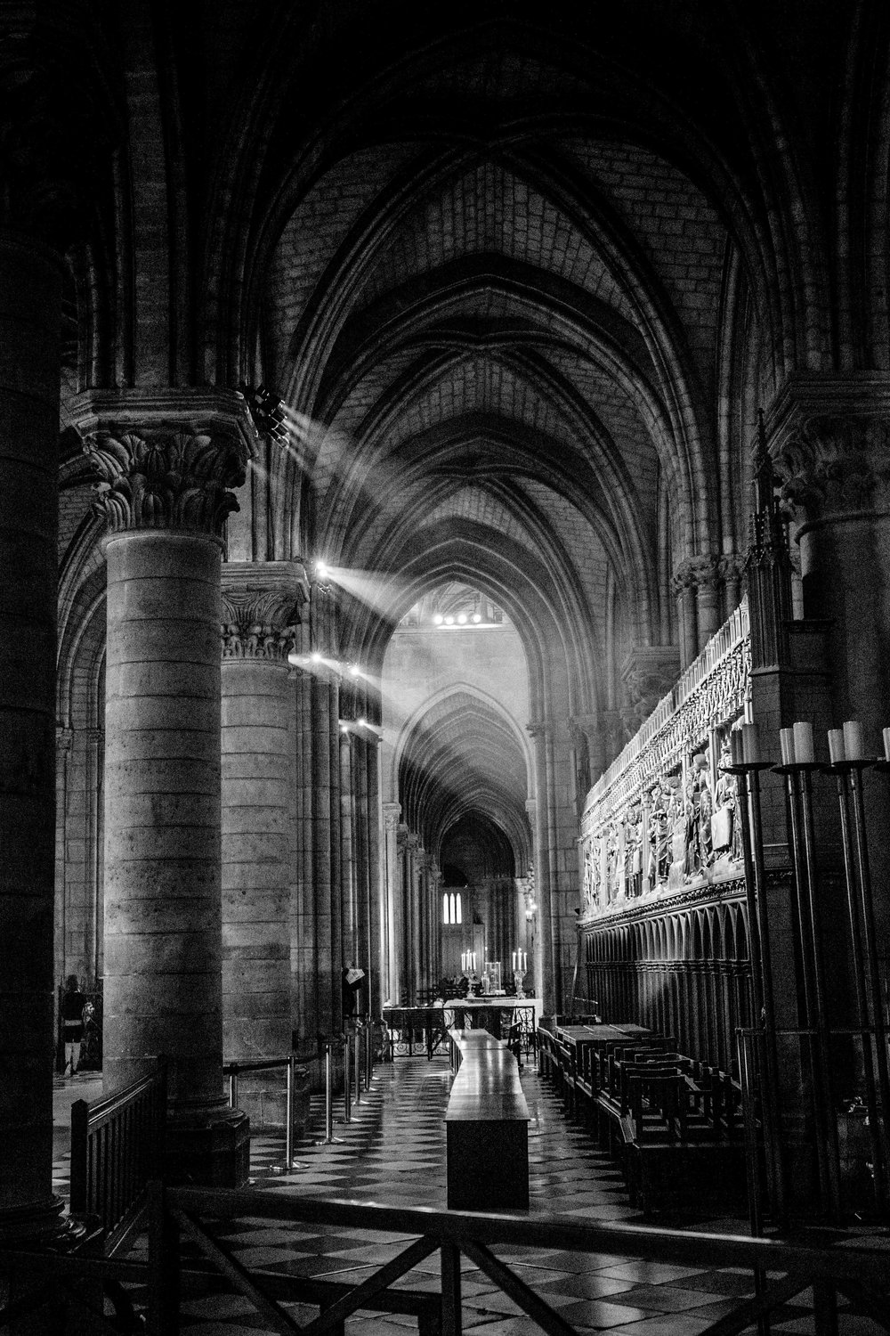 Interior shot of Notre Dame