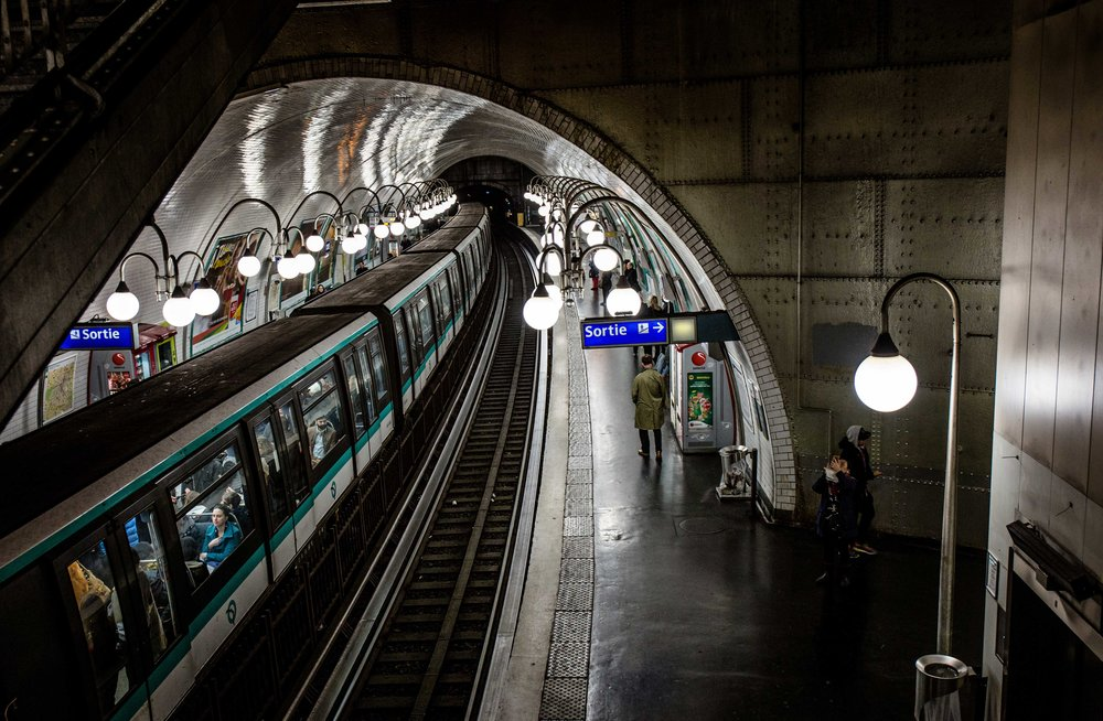 One of the most interesting subway lines we rode while in Paris