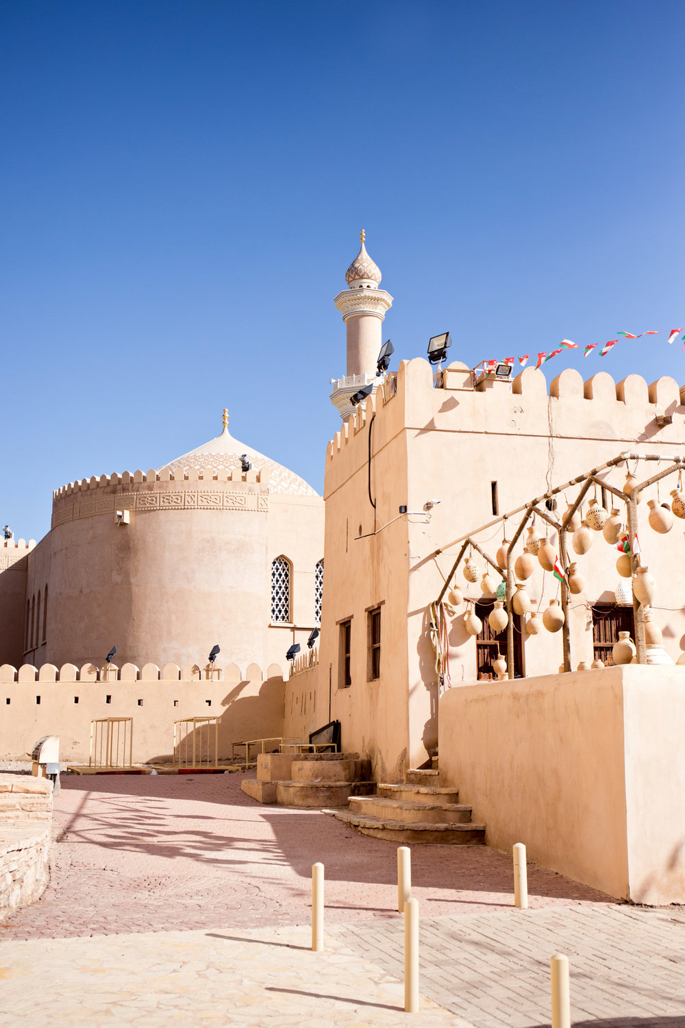 Nizwa Fort in Nizwa (former capital of Oman)