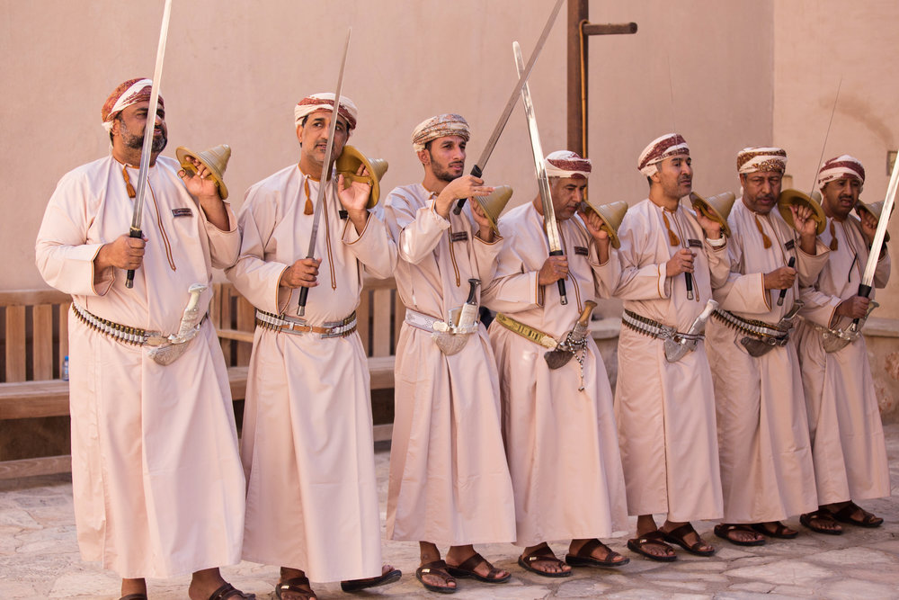Performers at Nizwa Fort
