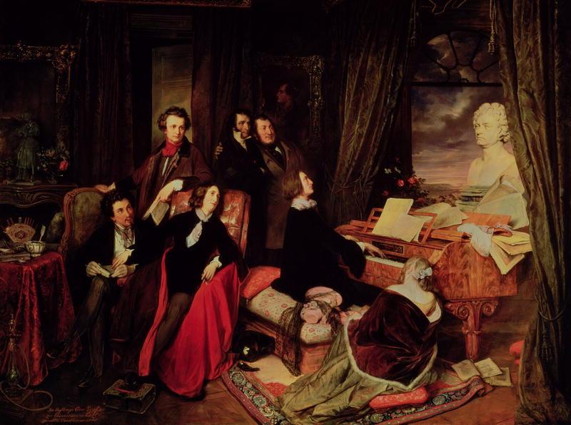 Josef danhauser - franz liszt, am flügel phantasierend (1840)