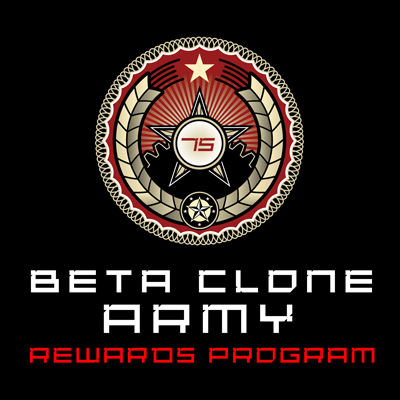 Beta Clone Army Reward Program logo