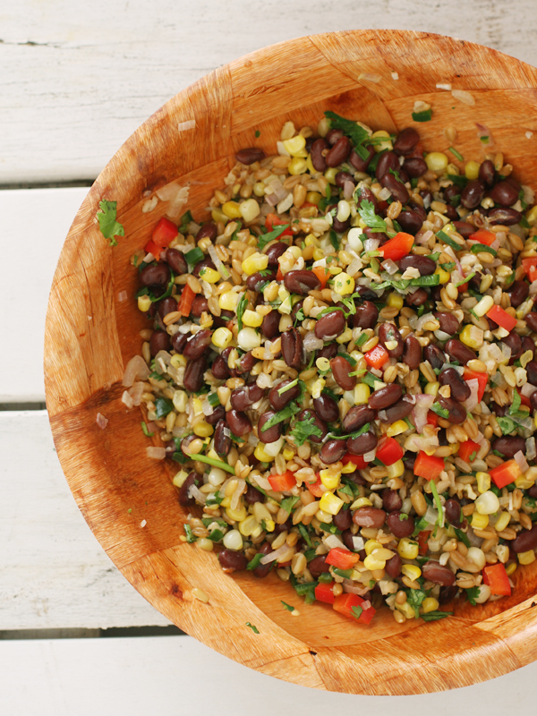 Cam's Freekeh + Bean Salad (vegan, dairy free)