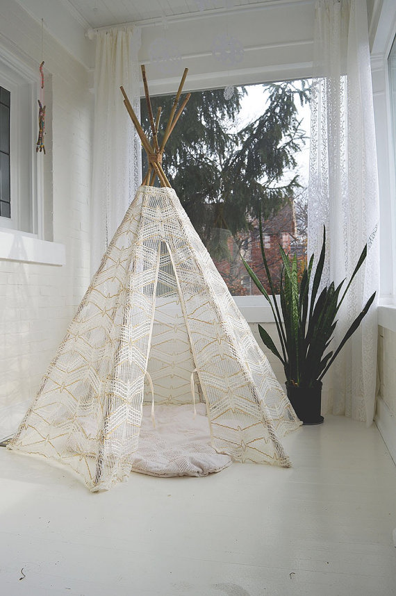 a teepee because she'll have to hang those little pixie lights on something $190 from etsy