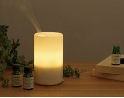 a softly glowing aromatherapy diffuser that doubles as a night light. $69.50 from muji