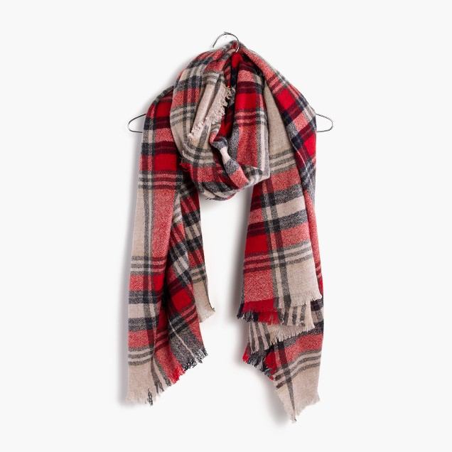 this wool plaid scarf is almost big enough to double as a blanket. $44.50 from madewell