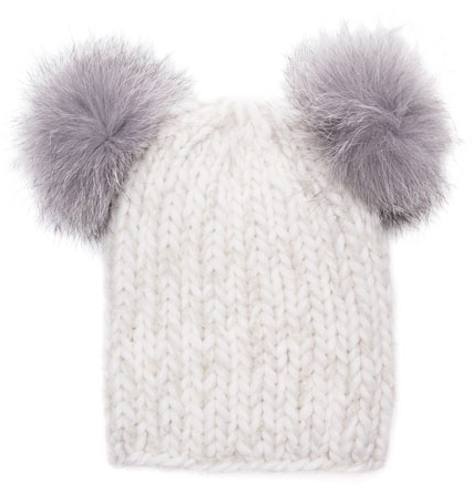 a pom pom hat to keep her ears warm. $235 from  bergdorf goodman