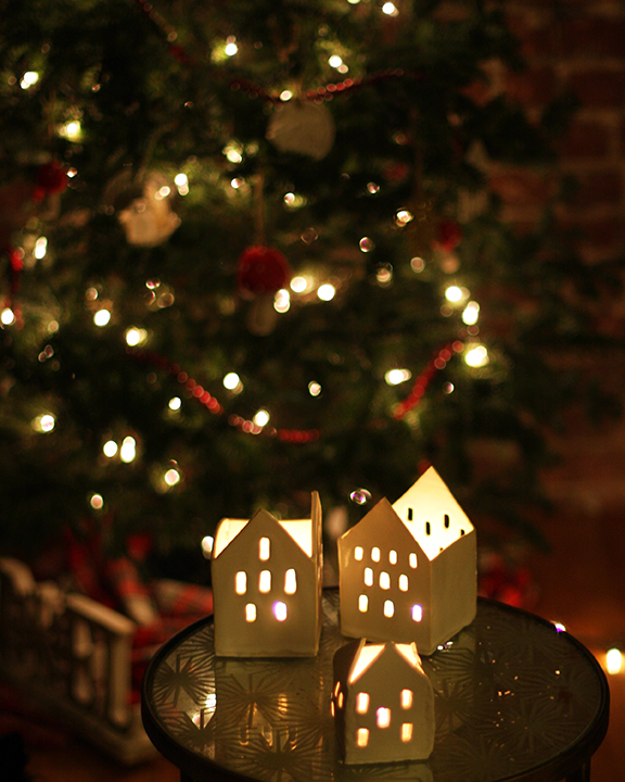 Holiday house candle holder diy meats and sweets aka the christmas village i made several of these little candle luminaries last year out of clay and they were so loved i thought id share how you can solutioingenieria Images