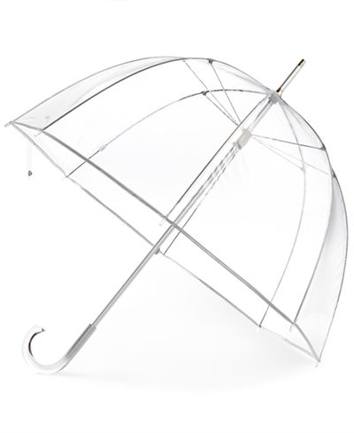 So she can see where she's going in the rain.  $24 from amazon