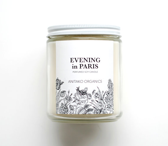 Not a skincare item but I would light this while I'm going through my nightly skincare routine and love it.  Evening in Paris Soy Candle, $24