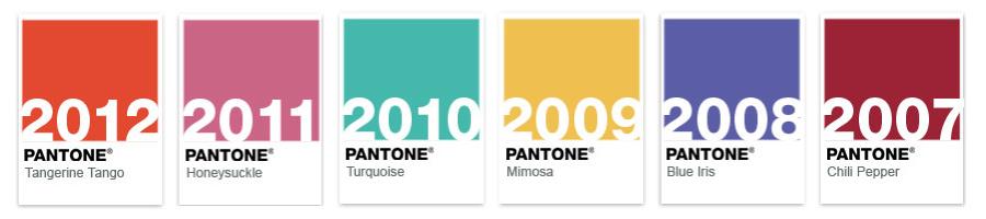 Pantone Color History