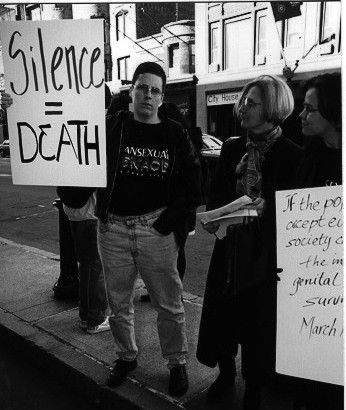 Intersex activist, Max Beck (1966 - 2008). Boston, 26 October 1996.