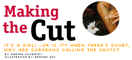Ms. Magazine published 'Making the Cut' by intersex activist, Martha Coventry in 2000.