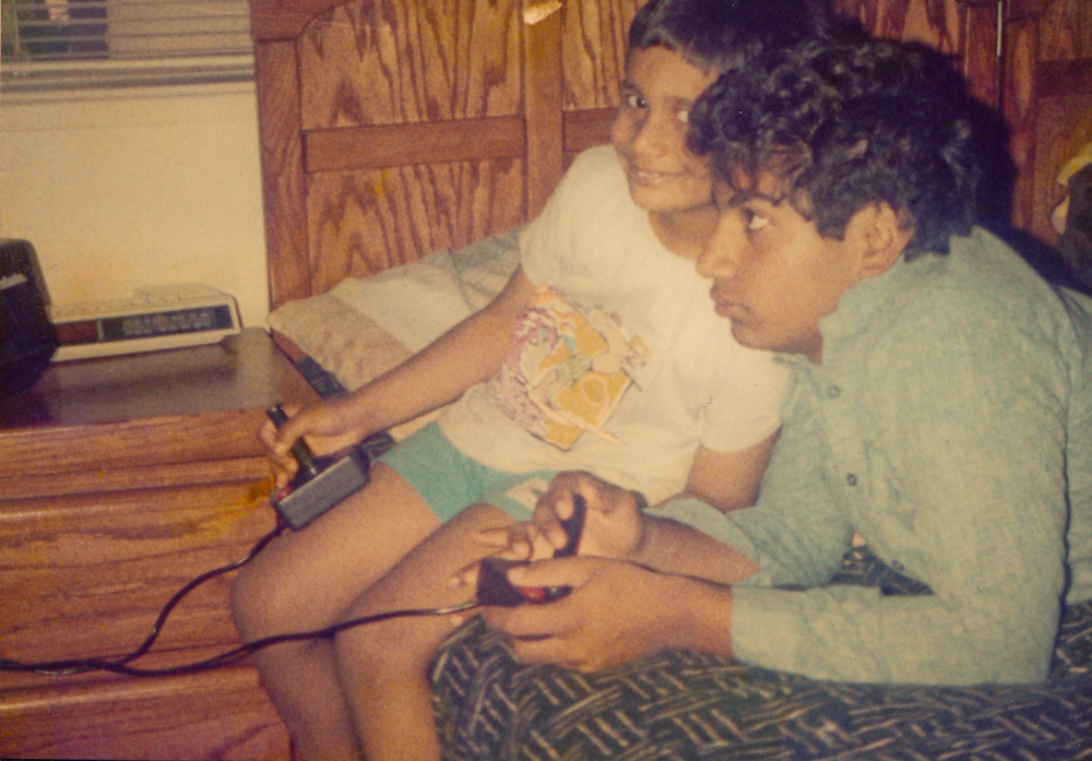 March 13, 1988: That's me on the left playing Atari with my brother.