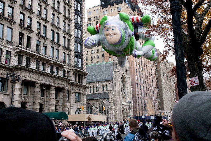 Buzz Lightyear in the 2010 Macy's Thanksgiving Day Parade.