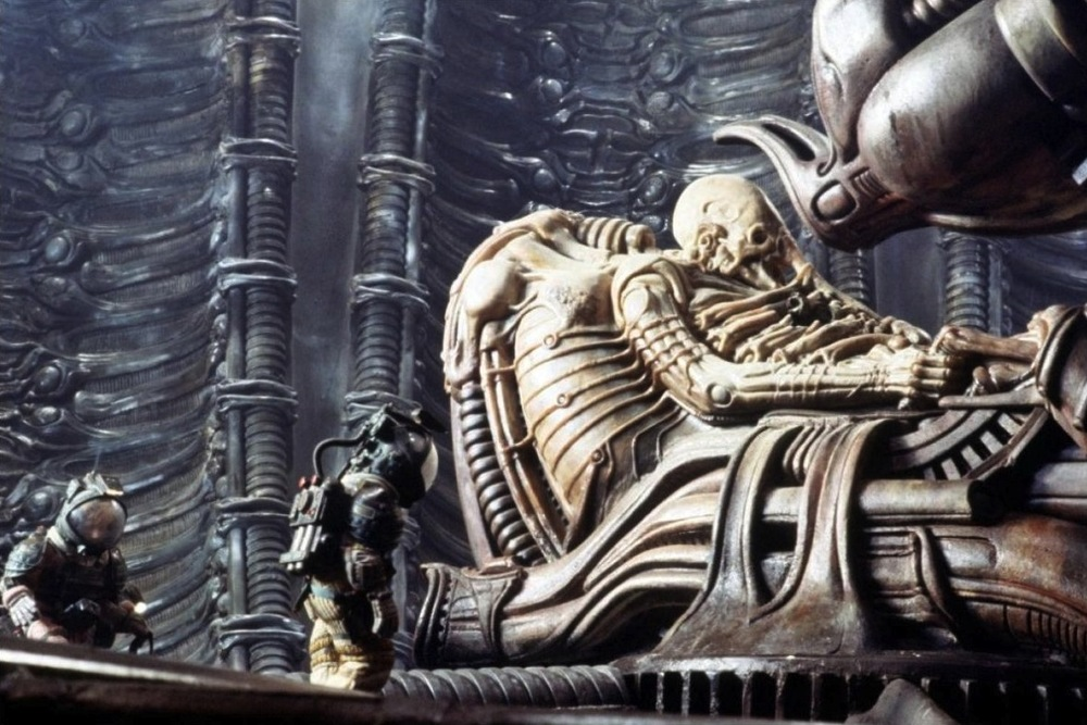 "The iconic ""space jockey"" from 1979's  Alien  was the inspiration for 2012's Prometheus."