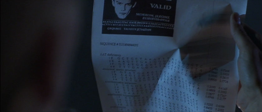 "Gattaca's genetic ranking classifies individuals as ""valid"" or ""invalid""."