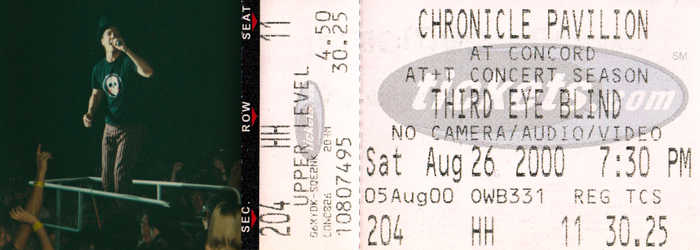 Watching Third Eye Blind in 2000, my first big concert.