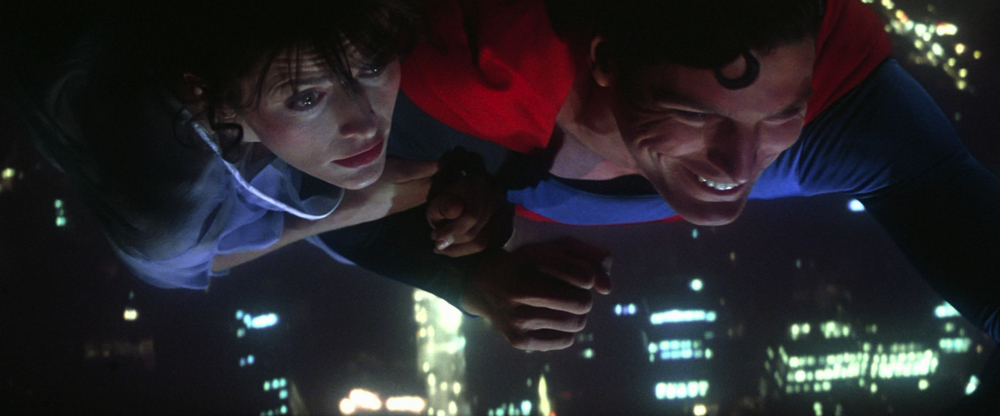 Superman and Lois Lane flying scene.