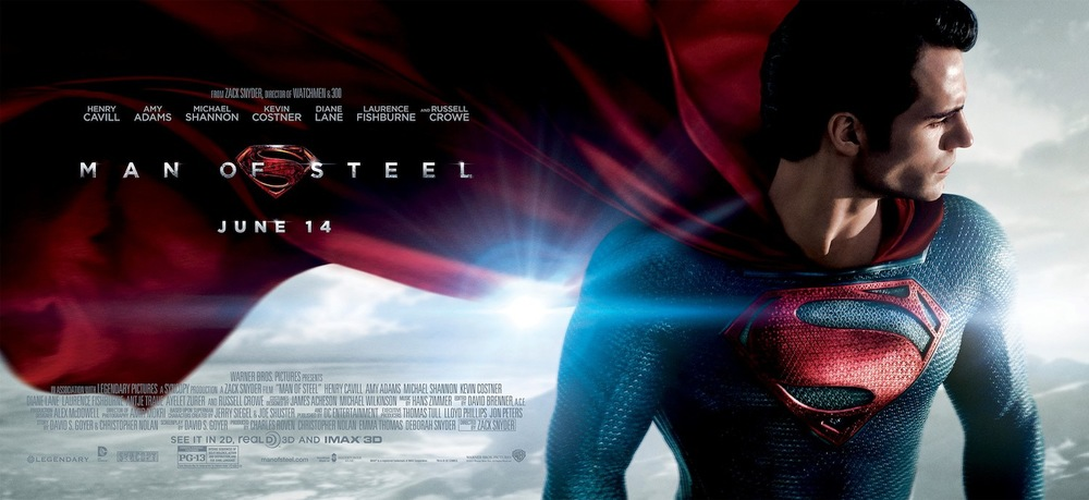 Man of Steel Superman Poster Wide