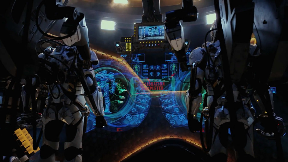 Pacific Rim 's cybernetic interface looked like  StarCraft  meets  Iron Man .
