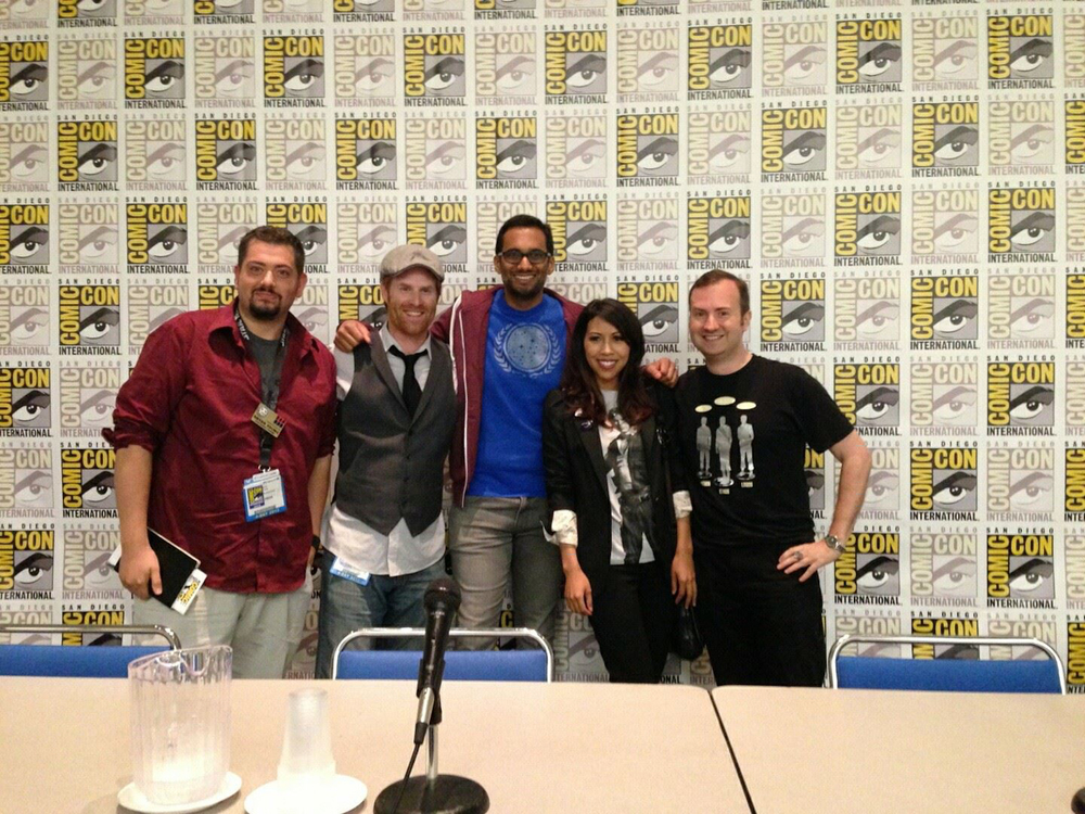 Left to right: Bryan Young, Brian Ward, Ali Mattu, Andrea Letamendi, John Champion.