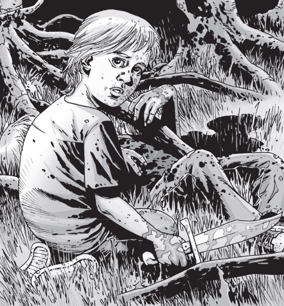 Child violence is a theme in the The Walking Dead comic and television series. This is Ben, the character Lizzie was based on.