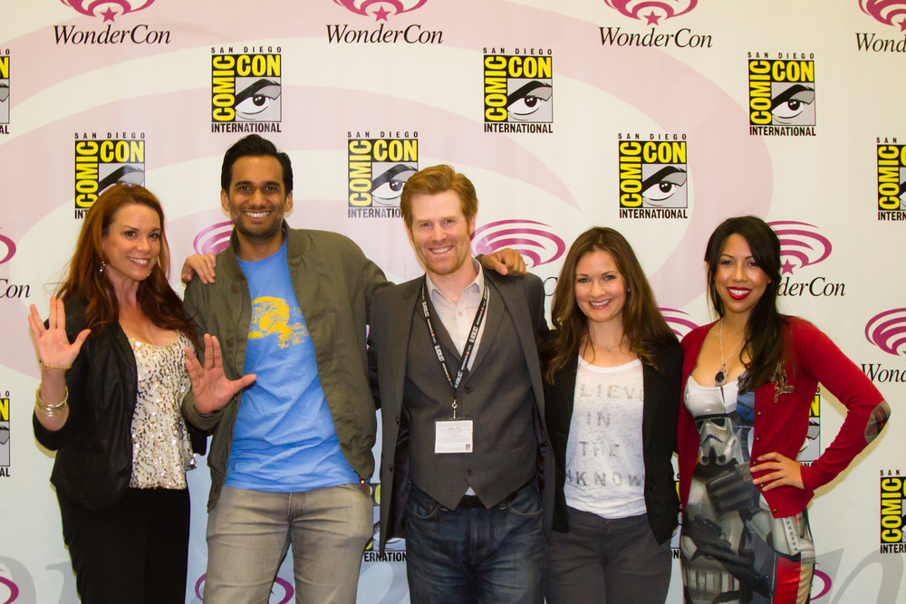 Chase Masterson, Ali Mattu, Brian Ward, Catherine Taber, Andrea Letamendi at the Psychology of Star Trek and Star Wars: Episode III, WonderCon 2014