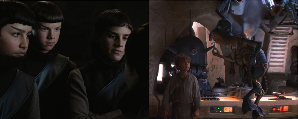 Star Trek's Spock, Star Wars's Anakin and Watto