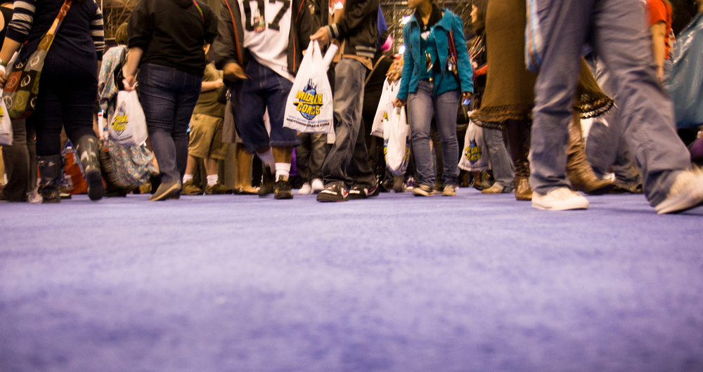 The overall convention experience can wear you down. New York Comic Con 2010.