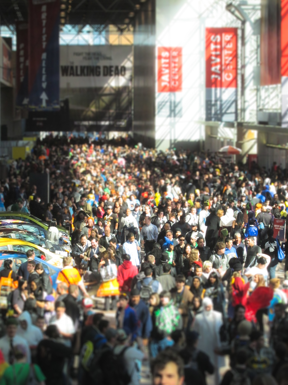 It's easy to feel lost in a crowd at comic-cons. New York Comic Con 2012.
