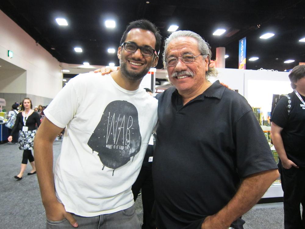 Edward James Olmos, BSG's William Adama. San Diego Comic Con 2013.