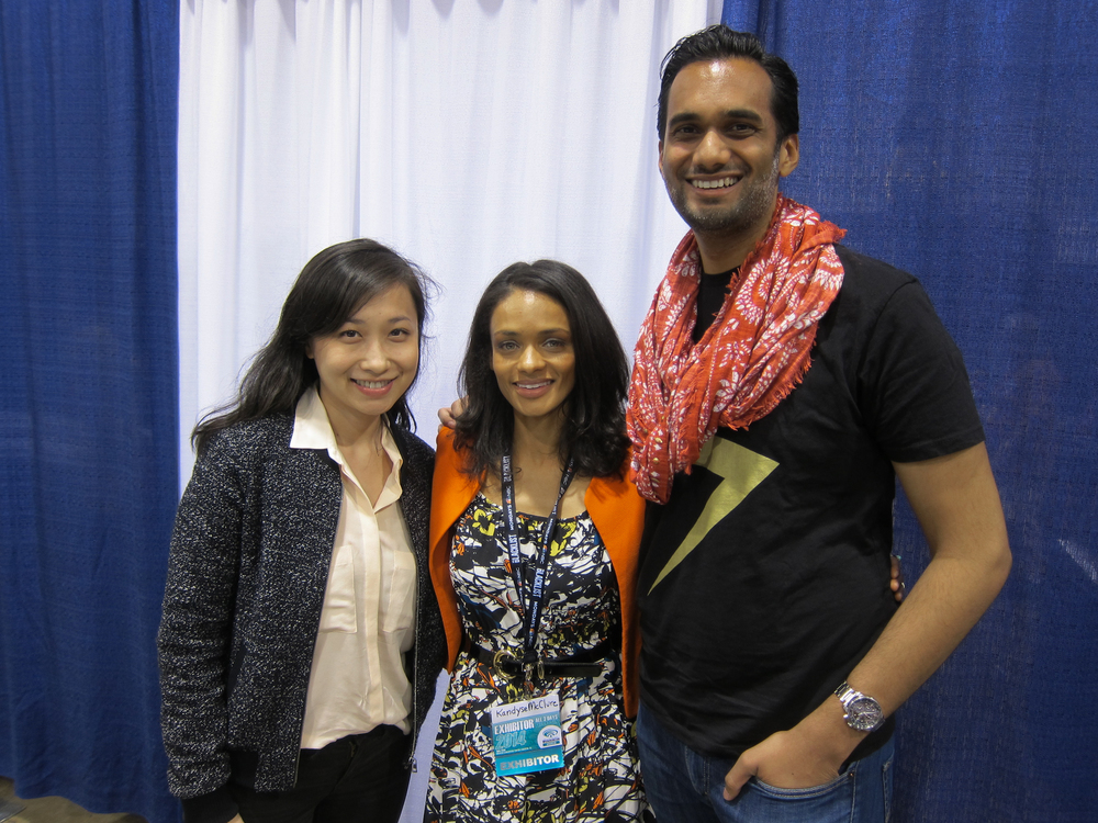 Me and my fiancee with Kandyse McClure, BSG's Anastasia Dualla. WonderCon 2014.