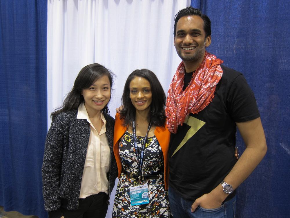 Me and my fiancee with Kandyse McClure, BSG's Anastasia Dualla. WonderCon 2014.