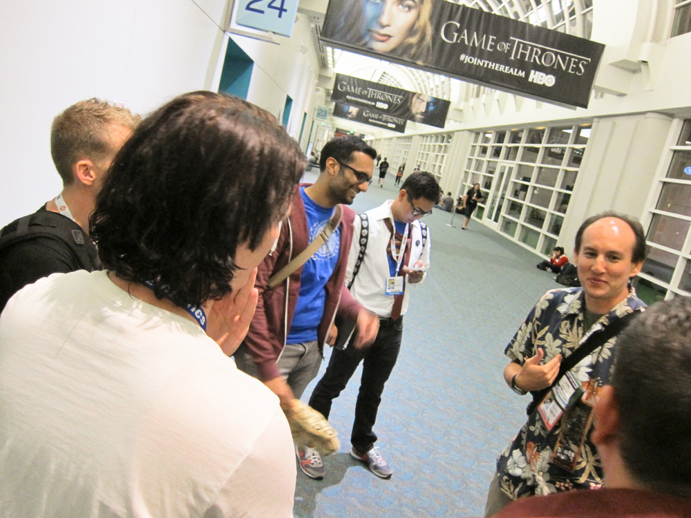 I cope with long lines by getting to know the people around me. San Diego Comic Con 2013.