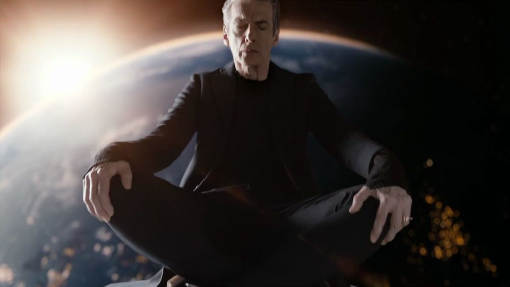 Doctor Who, Meditation on top of TARDIS outside Earth