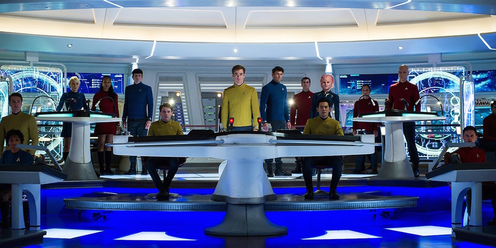 Star Trek Beyond bridge crew.
