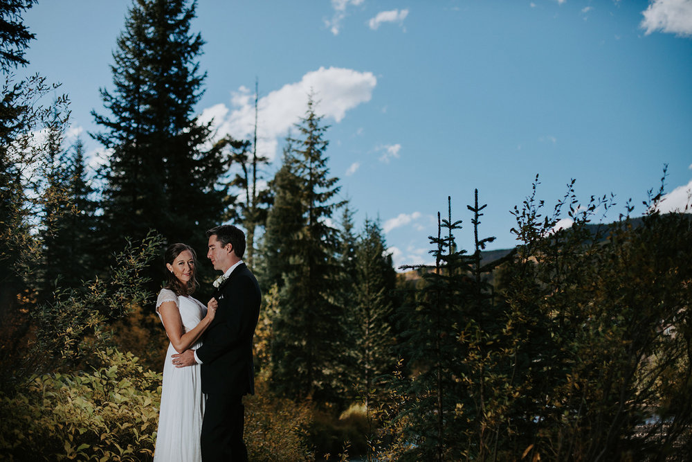 Quaking Aspen Amphitheater wedding fall colors Keystone Colorado river