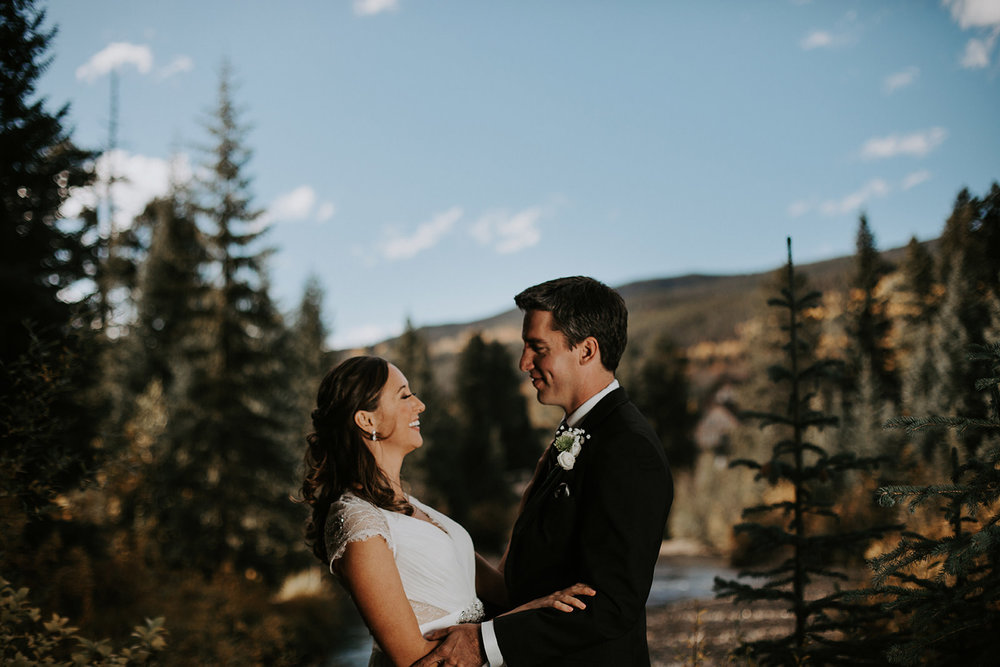 Quaking Aspen Amphitheater wedding fall colors Keystone Colorado